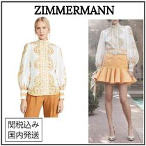 Zimmermann Flower Patterns Casual Style Long Sleeves Medium Party Style