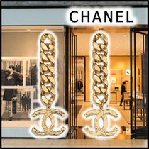 CHANEL 2020 SS PIERCING gold earrings & piercings