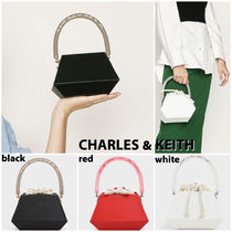Charles&Keith Casual Style Faux Fur 2WAY Plain Party Style Purses
