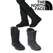 THE NORTH FACE Plain Toe Casual Style Faux Fur Street Style Plain