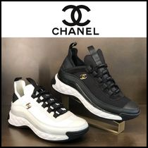 CHANEL Casual Style Unisex Blended Fabrics Street Style Bi-color