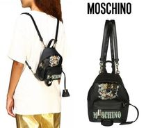Moschino Casual Style Bag in Bag Other Animal Patterns PVC Clothing
