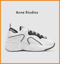 Acne Rubber Sole Lace-up Casual Style Leather Low-Top Sneakers