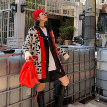 Cable Knit Leopard Patterns Lace-up Casual Style Wool