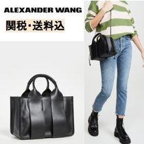 Alexander Wang Casual Style Unisex 2WAY Plain Leather Office Style Totes