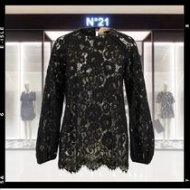 N21 numero ventuno Flower Patterns Long Sleeves Medium Lace Elegant Style