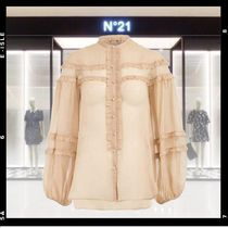 N21 numero ventuno Star Silk Long Sleeves Medium Elegant Style Shirts & Blouses