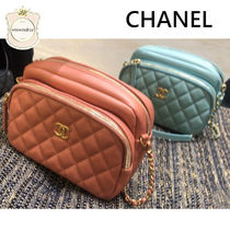 CHANEL Chain Leather Shoulder Bags