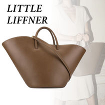 LITTLE LIFFNER Street Style A4 Plain Leather PVC Clothing Elegant Style