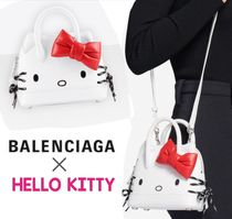 BALENCIAGA VILLE Casual Style Calfskin Collaboration 2WAY Handbags