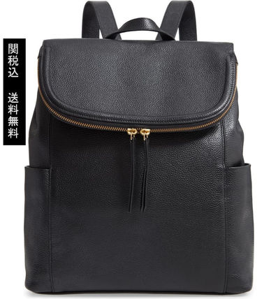 Casual Style Leather Backpacks