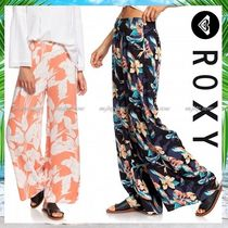 ROXY Flower Patterns Tropical Patterns Casual Style Medium Midi