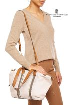BRUNELLO CUCINELLI Casual Style 2WAY Plain Leather Office Style Shoulder Bags
