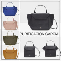 Purificacion Garcia Casual Style Leather Shoulder Bags