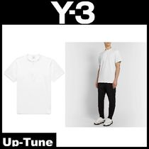 Y-3 Henry Neck Street Style Cotton Short Sleeves Henley T-Shirts