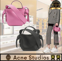 Acne Casual Style Street Style Plain Elegant Style Shoulder Bags