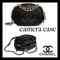 CHANEL Casual Style Unisex Suede Lambskin Studded Street Style 2WAY