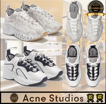 Acne Casual Style Unisex Street Style Plain Low-Top Sneakers
