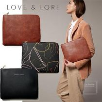 LOVE & LORE Casual Style Faux Fur Plain Office Style Elegant Style
