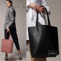 LOVE & LORE Casual Style Faux Fur Plain Office Style Elegant Style Totes