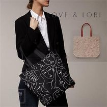 LOVE & LORE Casual Style Unisex A4 Office Style Totes
