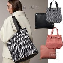 LOVE & LORE Casual Style Unisex A4 Plain Office Style Elegant Style