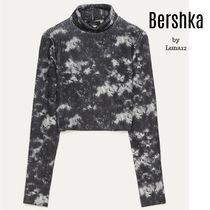 Bershka Short Rib Tie-dye Long Sleeves High-Neck Turtlenecks