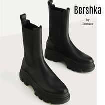 Bershka Platform Casual Style Plain Ankle & Booties Boots