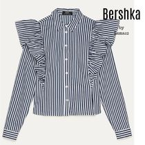 Bershka Stripes Casual Style Long Sleeves Cotton Medium