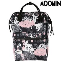 Moomin Flower Patterns Casual Style Unisex Backpacks