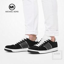 Michael Kors Suede Plain Leather Sneakers