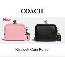 Coach Flower Patterns Leather Coin Purses
