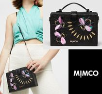 MIMCO Casual Style Blended Fabrics Studded Street Style 2WAY Chain