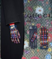 GUCCI 【GUCCI】Tweed Blended Fabrics Leather Party