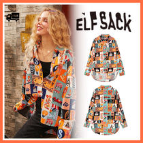 ELF SACK Casual Style Street Style Long Sleeves Medium Office Style