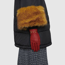 GUCCI Leather Gloves With Horsebit