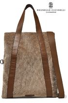 BRUNELLO CUCINELLI Casual Style Blended Fabrics A4 2WAY Plain Totes