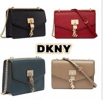 DKNY Casual Style Plain Leather Party Style Office Style