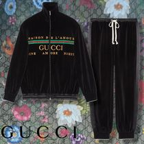 GUCCI 【GUCCI】 Oversize embroidered chenille jacket & track bottoms