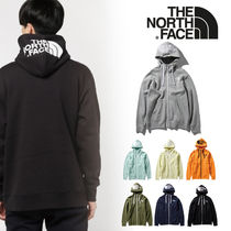 THE NORTH FACE Unisex Long Sleeves Cotton Logo Hoodies