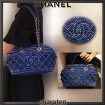 CHANEL ICON Casual Style Calfskin Blended Fabrics 3WAY Bi-color Chain