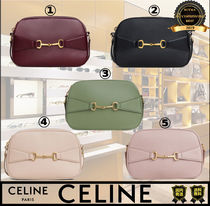CELINE Casual Style Lambskin Plain Leather Party Style