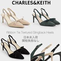 Charles&Keith Casual Style Plain Pin Heels Party Style Office Style