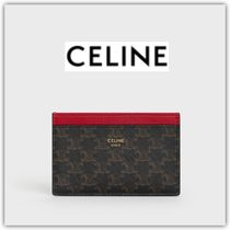 CELINE Triomphe Canvas Card Holders