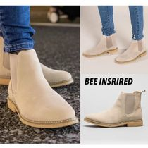 Bee Inspired Clothing Plain Toe Suede Plain Chelsea Boots Chelsea Boots
