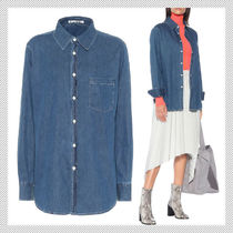 Acne Casual Style Long Sleeves Plain Cotton Shirts & Blouses