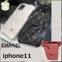 CHANEL Leather Smart Phone Cases