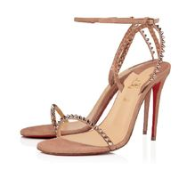Christian Louboutin Casual Style Suede Plain Pin Heels Party Style Elegant Style
