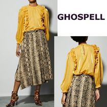 GHOSPELL Casual Style Street Style Long Sleeves Plain
