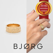 BJORG Casual Style Unisex Office Style Elegant Style Rings